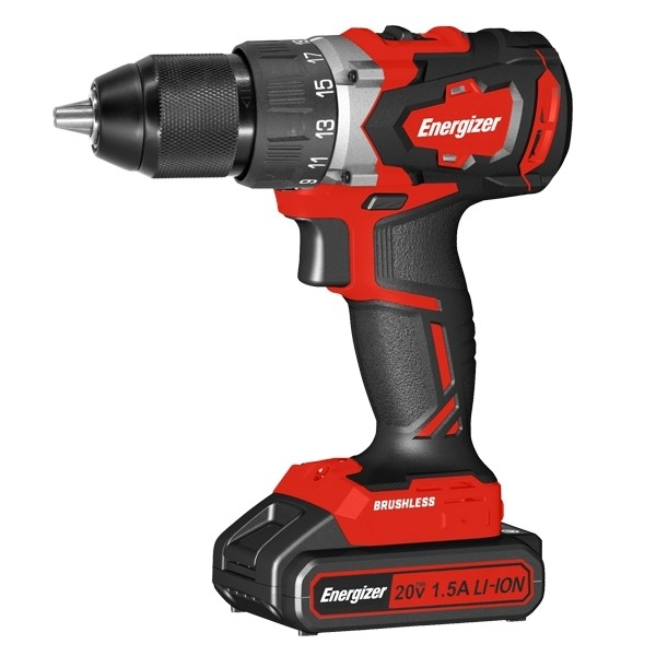 Energizer® 18v Cordless Hammer-Drill with Screwdriver Function