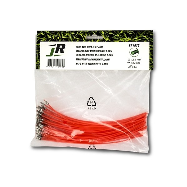 50 x Round Nylon Thread 45cm (2.4mm x 0.22m) Trimmer-Line Strands - JR FNY076 (Accessories - Trimmer Line)Back Reset Delete Duplicate Save Save and Continue Edit