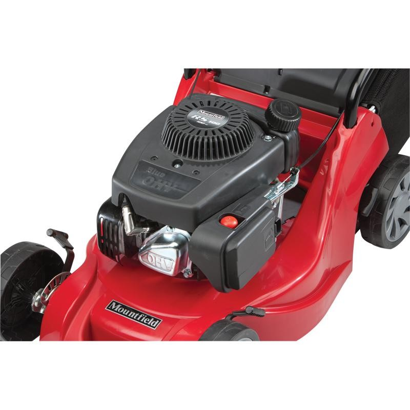 Mountfield HP414 Hand-Propelled Petrol Lawn Mower Left Elevation Close Up 2