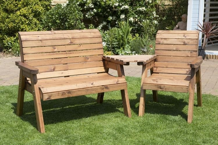Charles Taylor Three Seater Companion Set with Angled Tray (HB03)