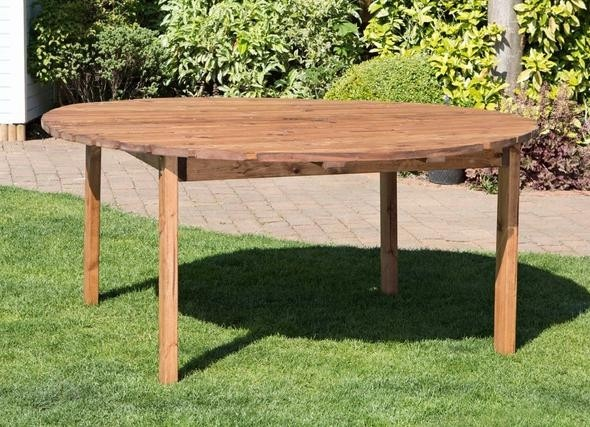 Charles Taylor  - Large Round Table - Scandinavian Red Wood ( HB27)