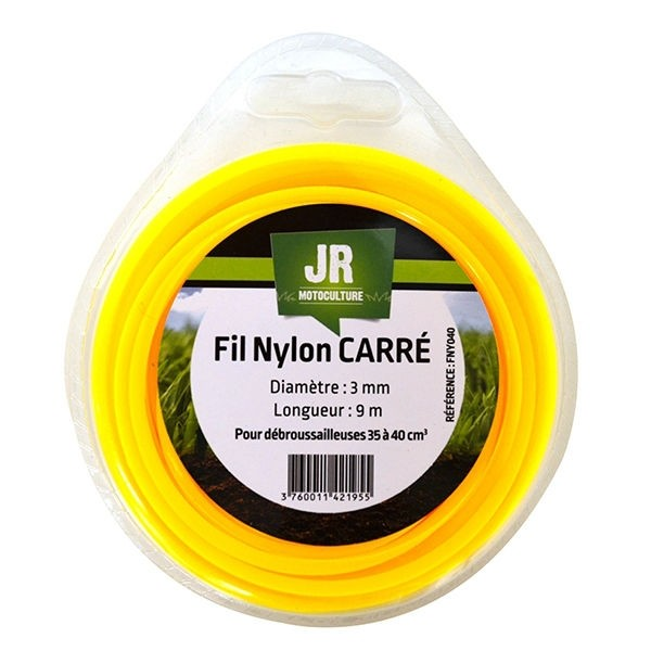 Square Nylon Trimmer-Line - Replacement Strimmer Line - ( 3mm x 9m ) JR FNY040