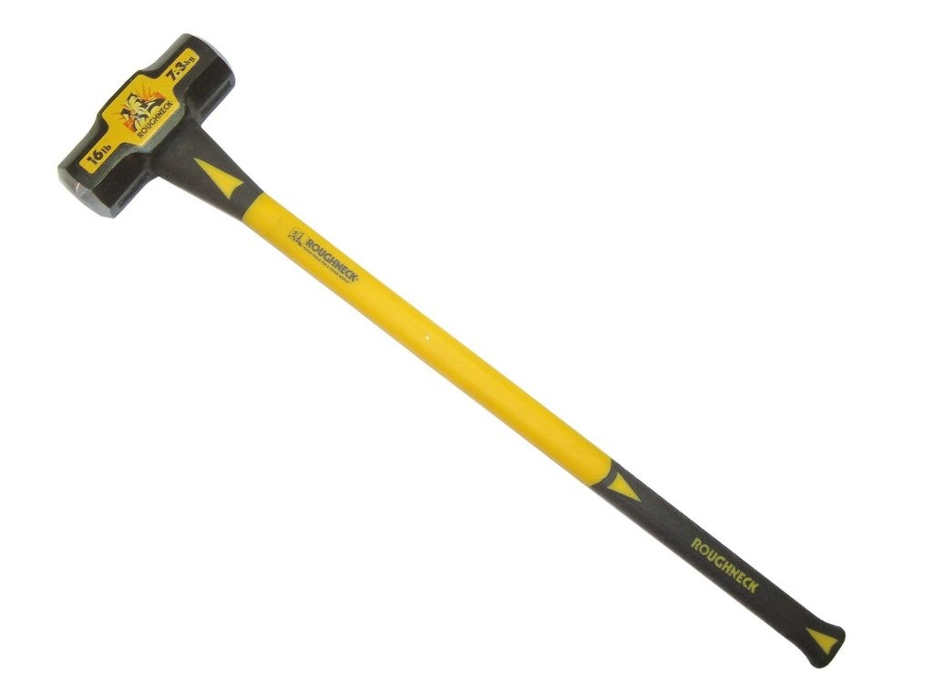 Roughneck 12lb Sledge Hammer-Double Injected Fibre Glass Handle