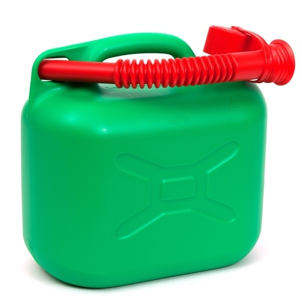5 Litre Green Plastic Jerry Can for Fuel - Petrol Can