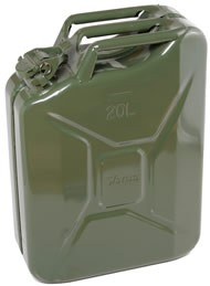 F-2200 Steel Gerry Can (20 Litres - Khaki)