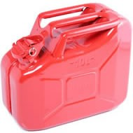 F-1200 Steel Gerry Can (10 Litres - Red)