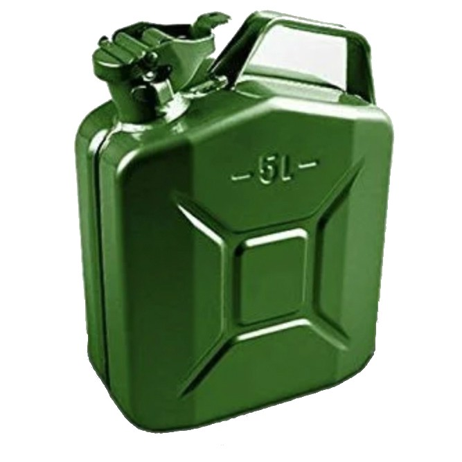 5 Litre Green Steel Jerry Can (F-5200)