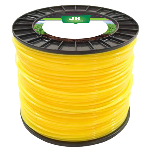Square Nylon Trimmer-Line - Replacement Strimmer Line  3.3mm x 45m  - JR FNY065