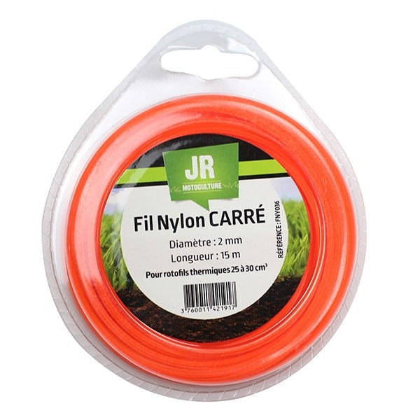 Square Nylon Trimmer-Line Replacement Strimmer Line -  2mm x 15m - JR FNY036