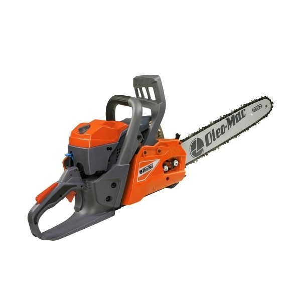 "Oleo-Mac GS-411-325 Petrol Chainsaw (41cm Guide Bar with .325"" Chain)."