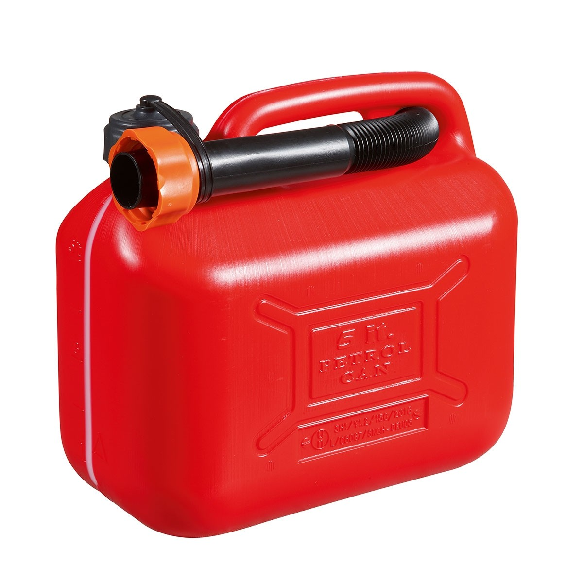 Oleo Mac 5 Litre Red Plastic Jerry Can for Fuel
