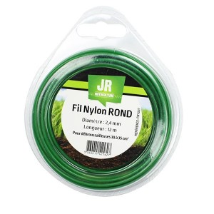 Nylon Round Trimmer-Line - Replacement Strimmer Line - 2.4mm x 12m -  JR FNY007