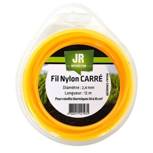 Square Nylon Trimmer-Line - Replacement Strimmer Line -  2.4mm x 12m - JR FNY038