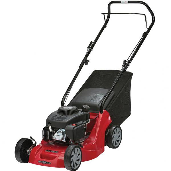 Mountfield HP414 Hand-Propelled Petrol Lawn Mower Front Left Elevation