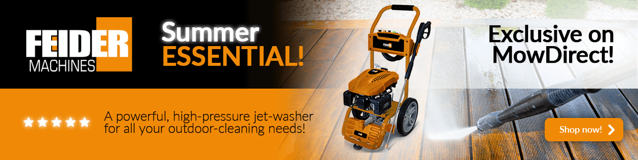 Feider petrol pressure washer - Substantial flow-rate and rock-solid reliability