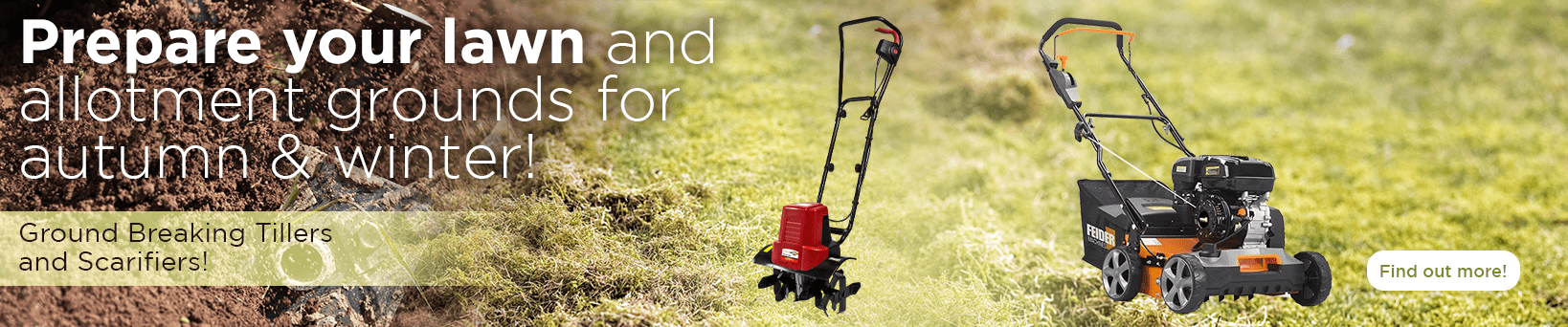 Tillers and scarifiers for this Autumn and Winter