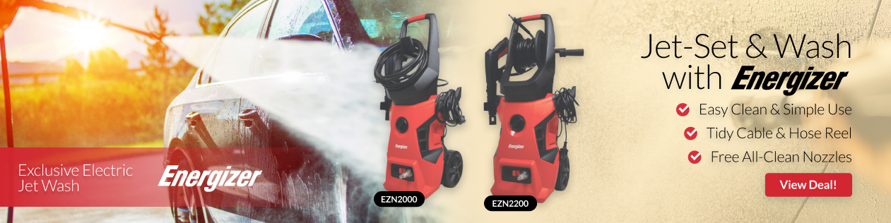 Energizer Electric Pressure Washers - Substantial flow-rate and rock-solid reliability