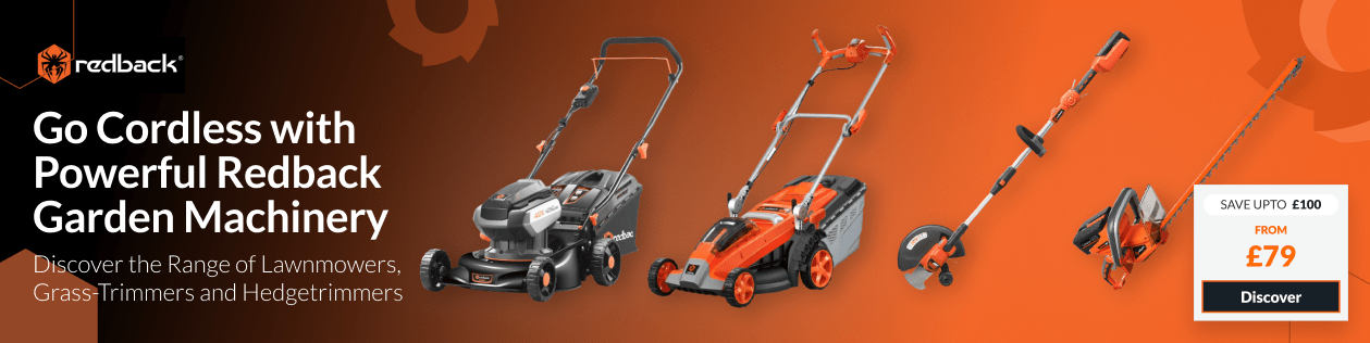 Go Cordless with Powerful Redback Garden Machinery