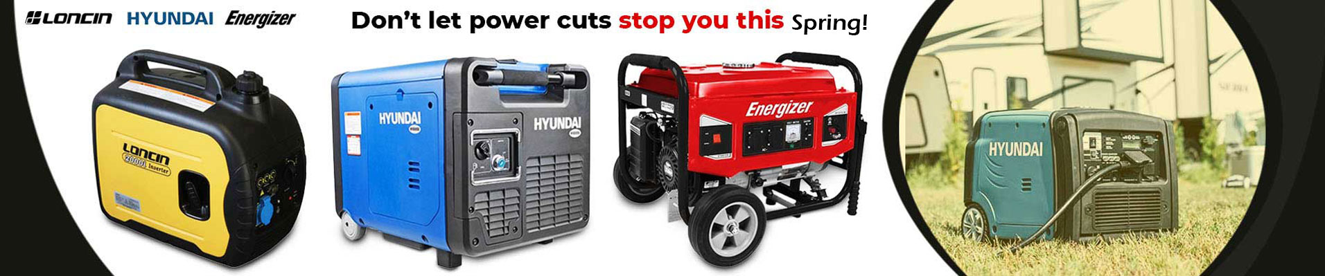 Top generators from trusted power brands