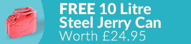 Free Steel 10 Litre Jerry Can Worth £24.95